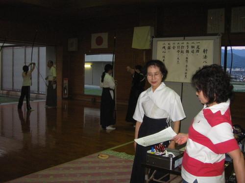 弓道教室にて